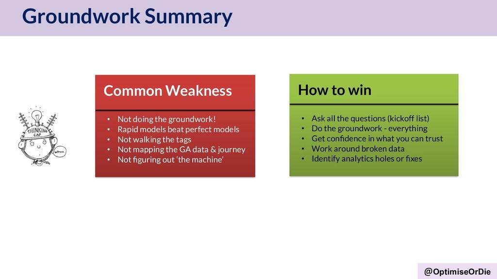 OptimiseOrDie Groundwork Summary Common Weaknes...
