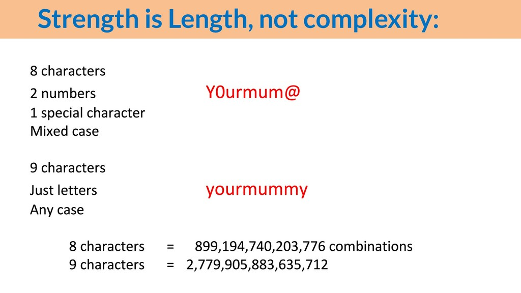 Strength is Length, not complexity: