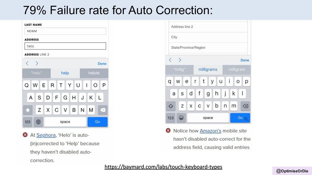 @OptimiseOrDie 79% Failure rate for Auto Correc...