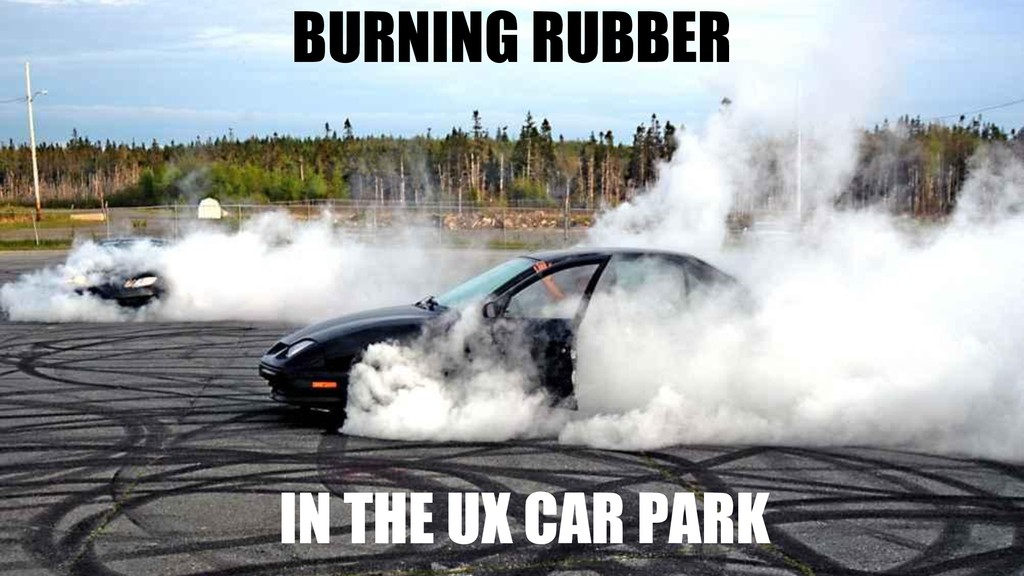 38 BURNING RUBBER IN THE UX CAR PARK