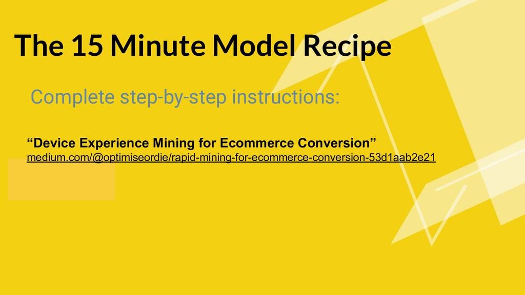 The 15 Minute Model Recipe Complete step-by-ste...