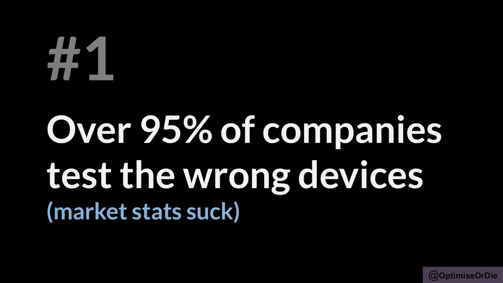 @OptimiseOrDie Over 95% of companies test the w...