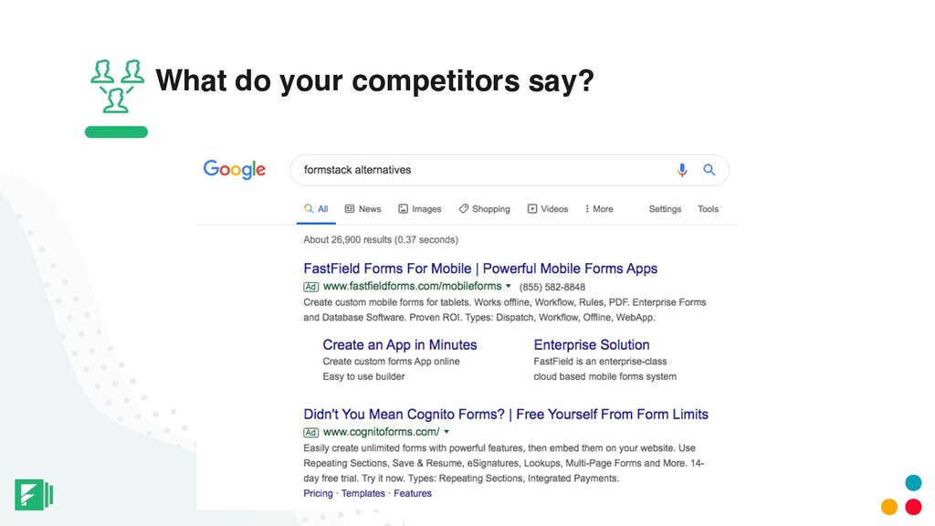 What do your competitors say?