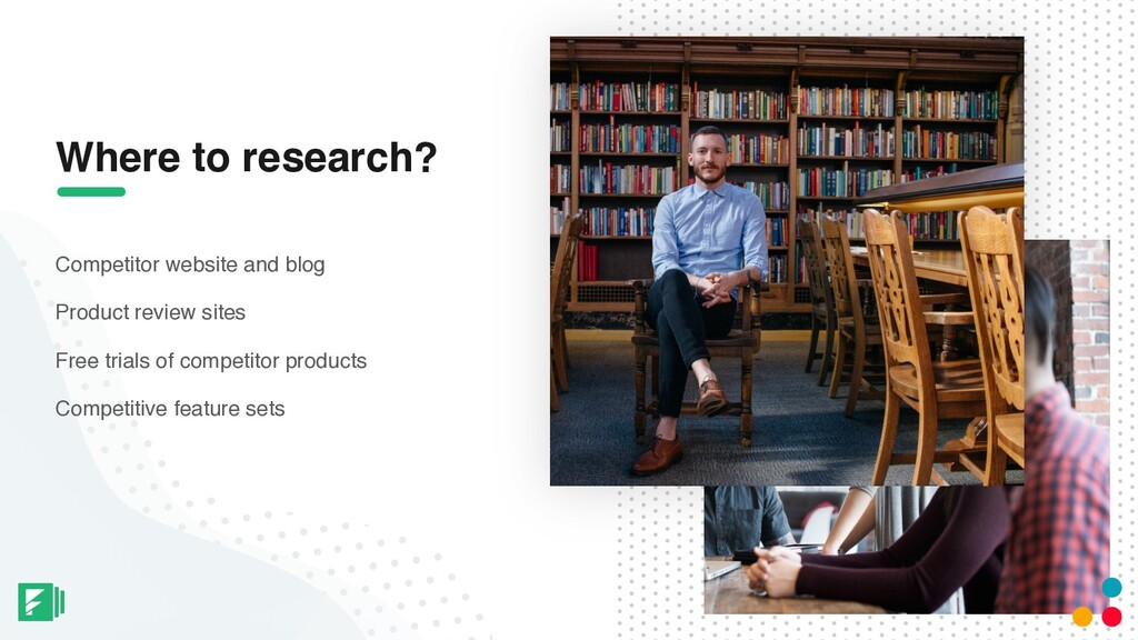 Where to research? Competitor website and blog ...