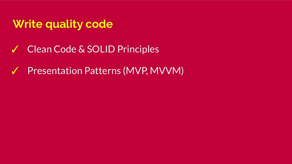 Write quality code ✓ Clean Code & SOLID Princip...