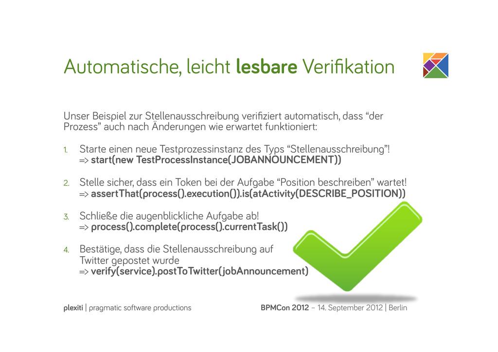 Automatische, leicht lesbare Verifikation BPMCon...
