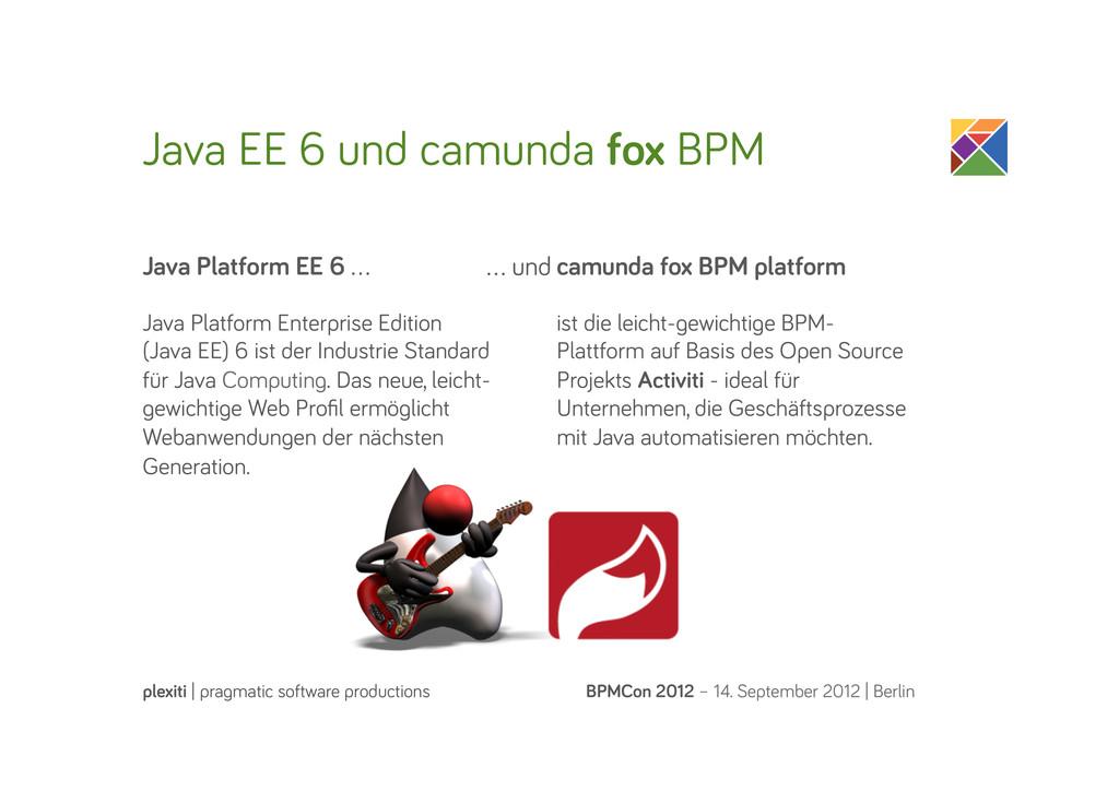 Java EE 6 und camunda fox BPM BPMCon 2012 – 14....