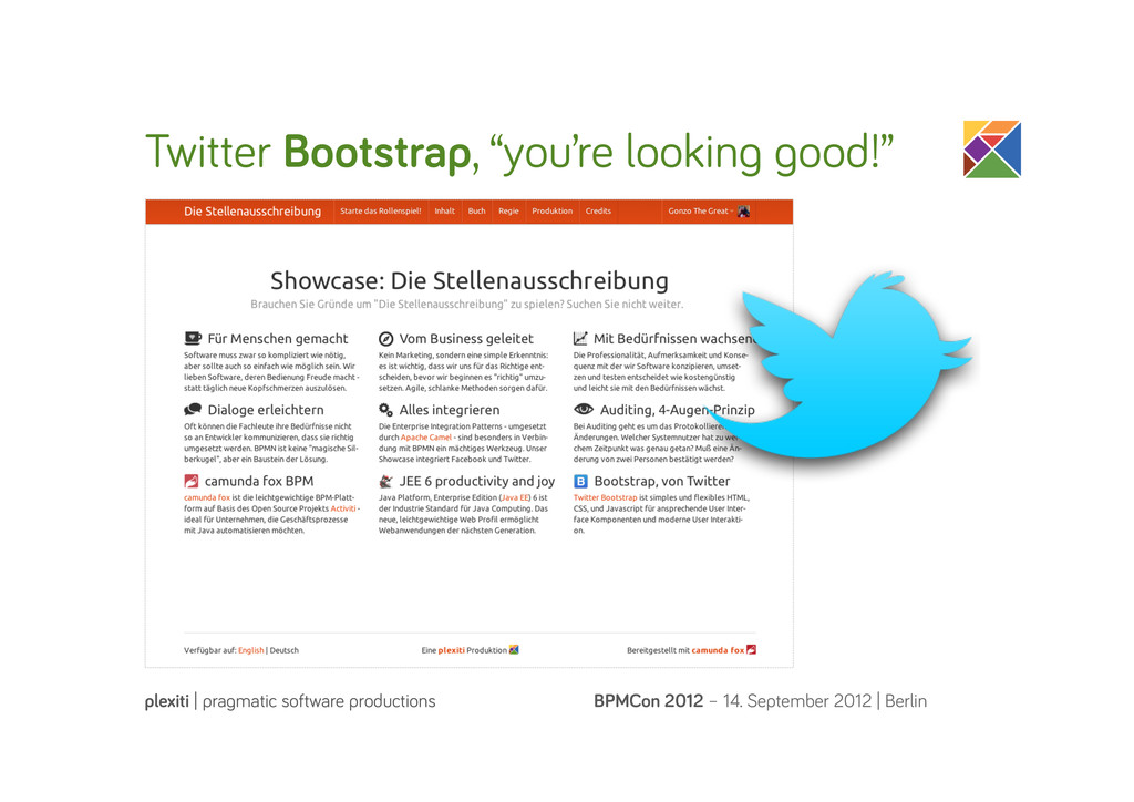 """Twitter Bootstrap, """"you're lookin ood!"""" BPMCon ..."""