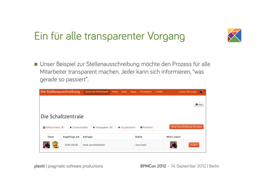 Ein für alle transparenter Vor an BPMCon 2012 –...