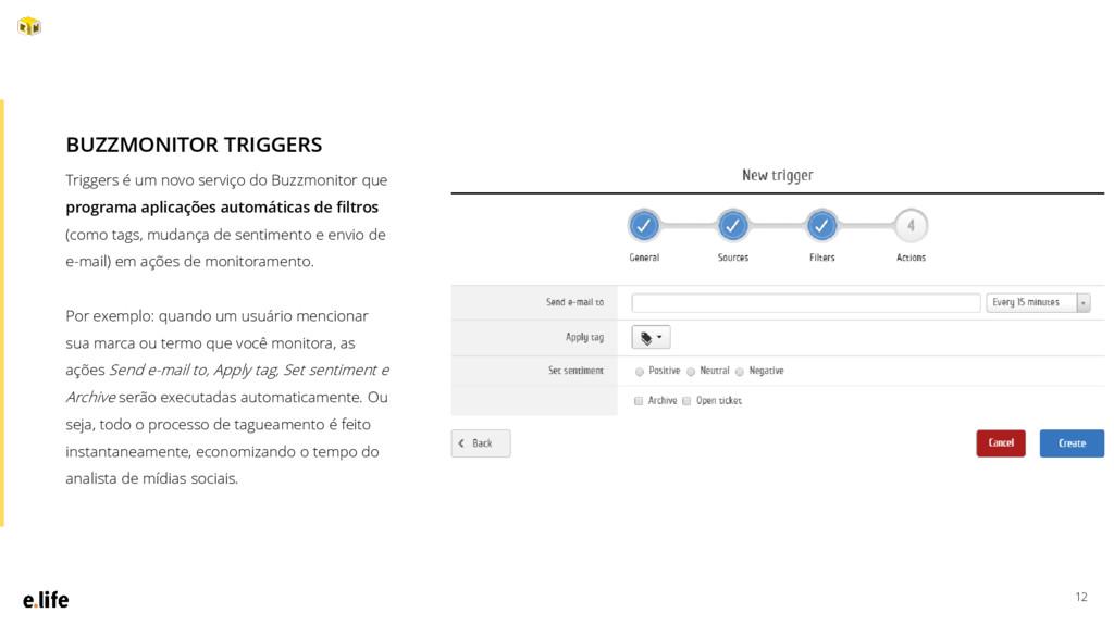 12 Triggers é um novo serviço do Buzzmonitor qu...