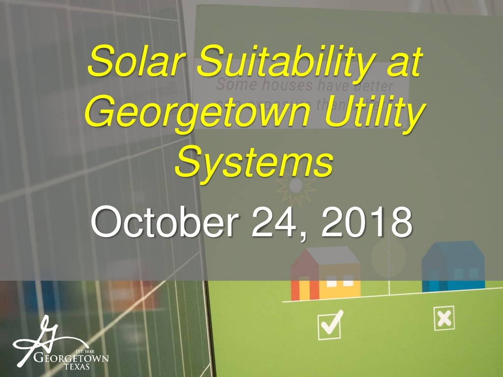 Solar Suitability at Georgetown Utility Systems...