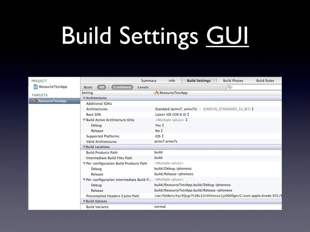 Build Settings GUI