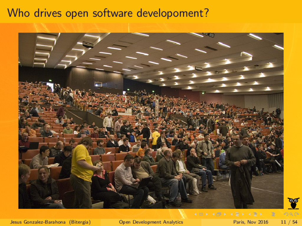 Who drives open software developoment? Jesus Go...