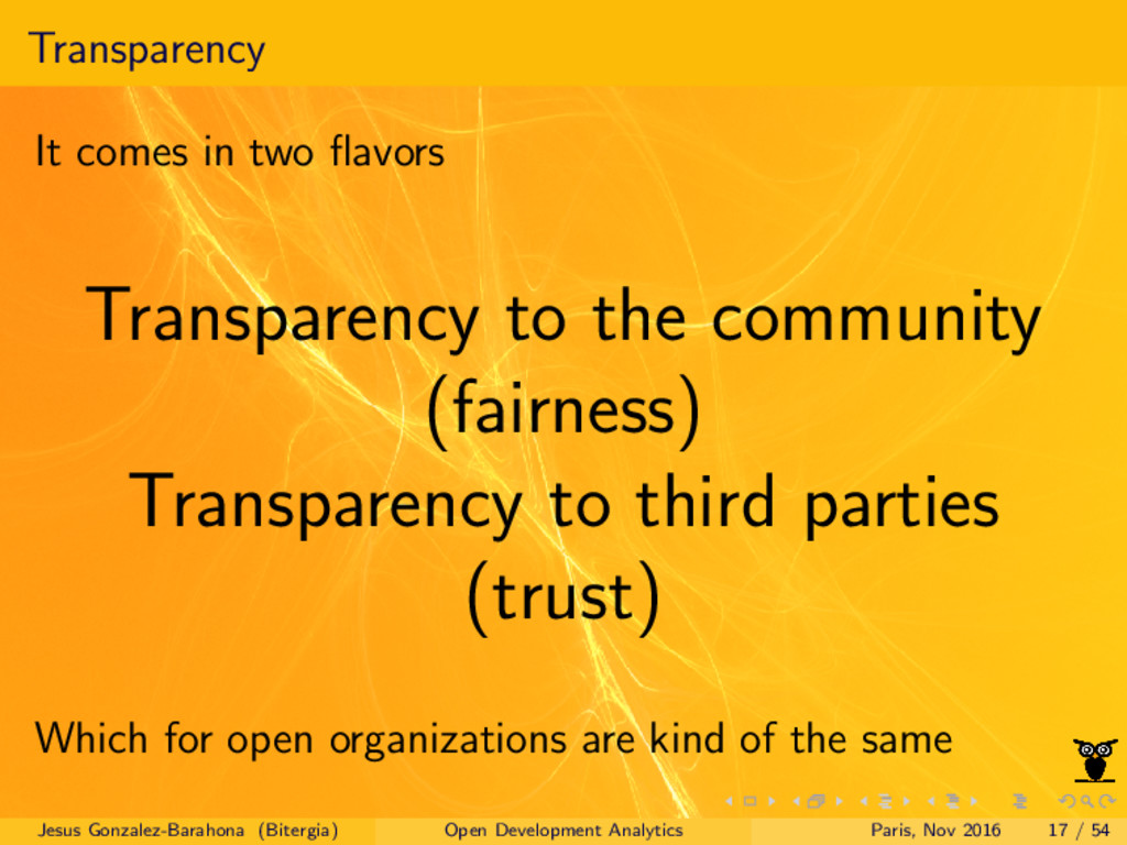 Transparency It comes in two flavors Transparenc...