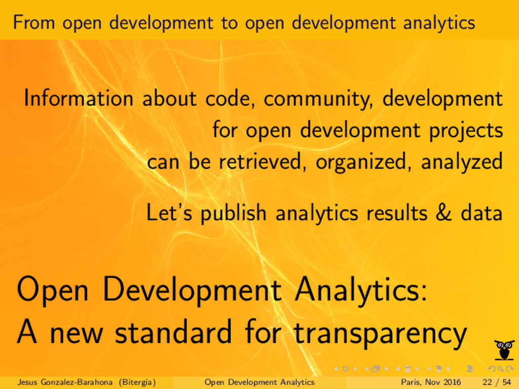 From open development to open development analy...