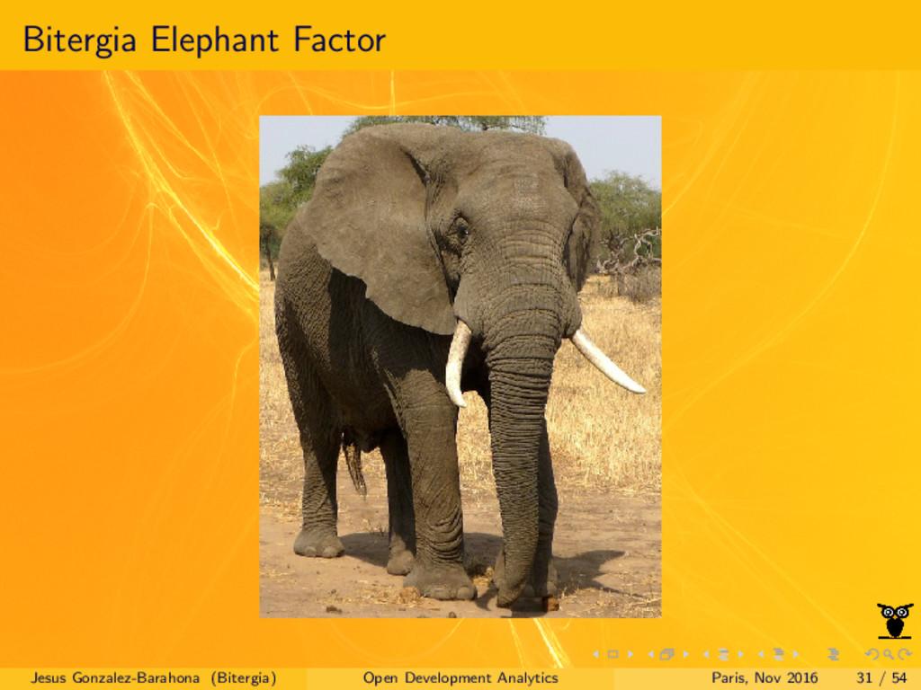 Bitergia Elephant Factor Jesus Gonzalez-Barahon...