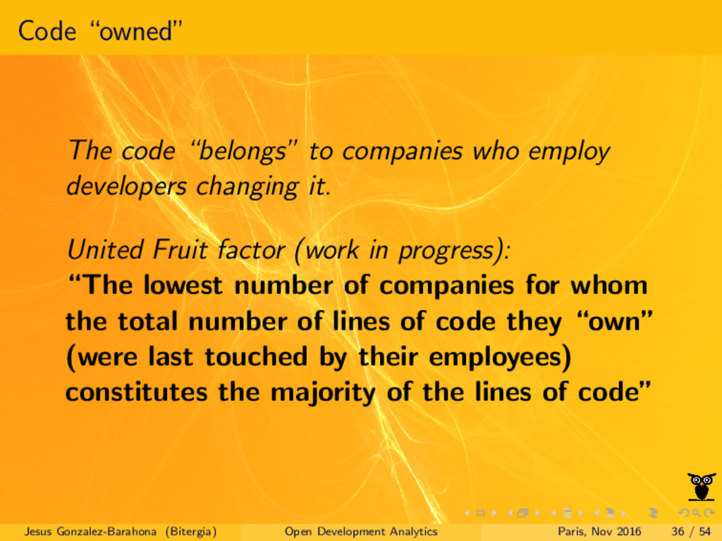 """Code """"owned"""" The code """"belongs"""" to companies wh..."""