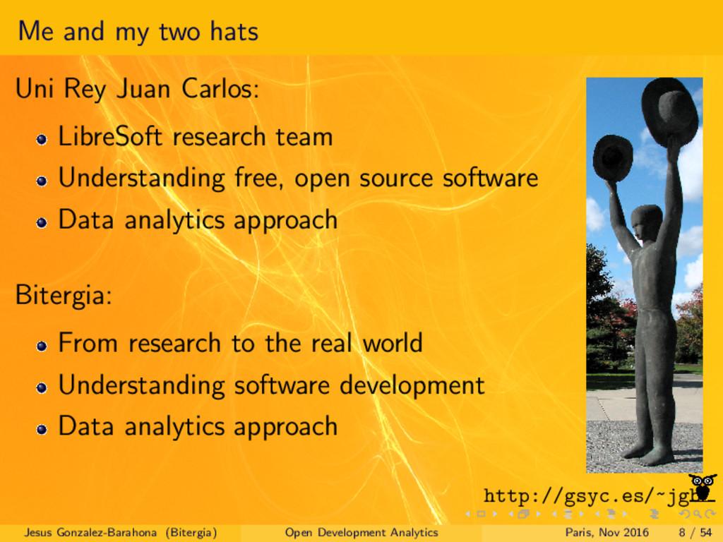Me and my two hats Uni Rey Juan Carlos: LibreSo...