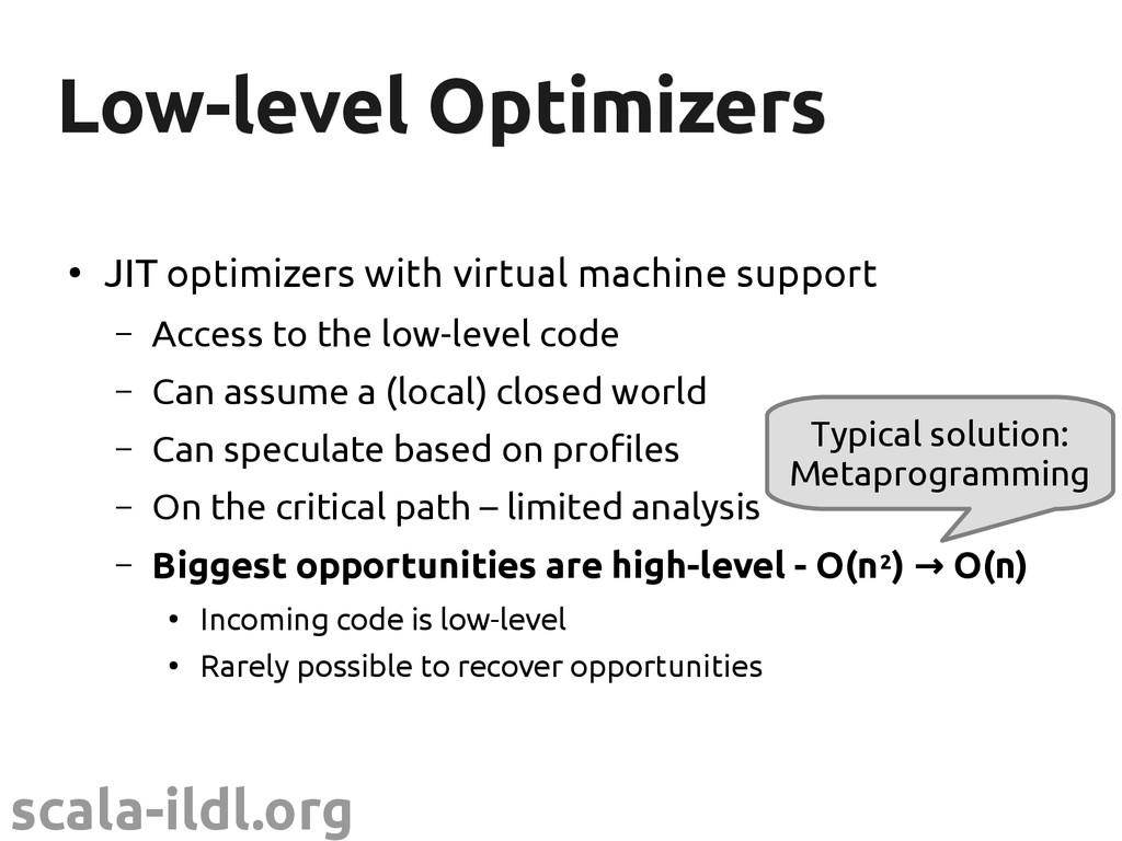 scala-ildl.org Low-level Optimizers Low-level O...