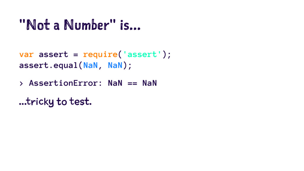 """Not a Number"" is... var assert = require('asse..."