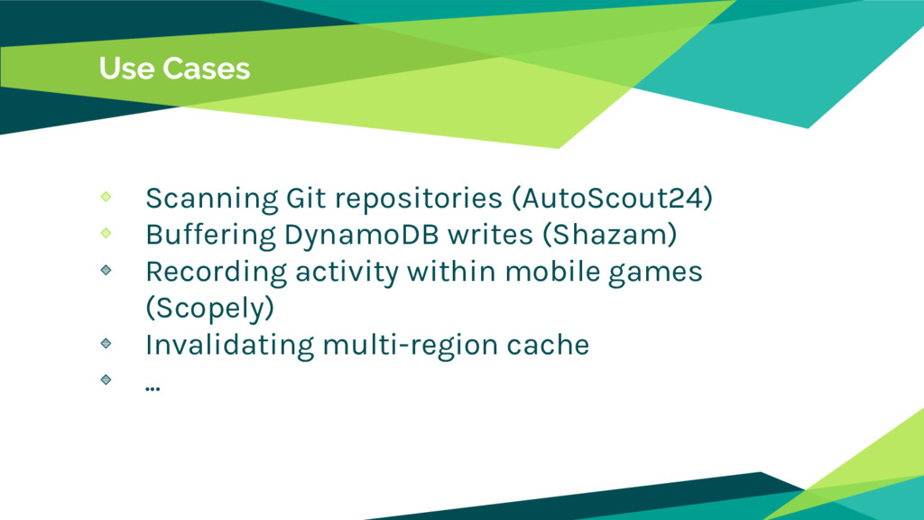 Use Cases Scanning Git repositories (AutoScout2...