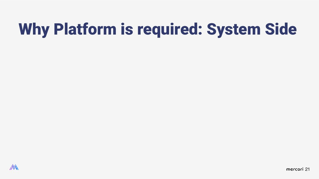 21 Why Platform is required: System Side