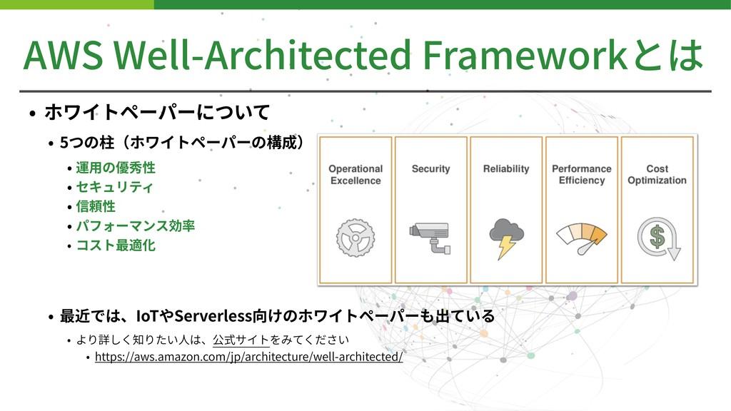 AWS Well-Architected Frameworkとは • ホワイトペーパーについて...