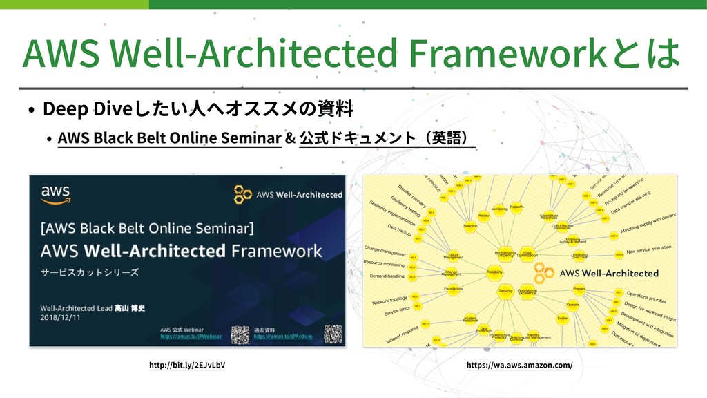 AWS Well-Architected Frameworkとは • Deep Diveしたい...