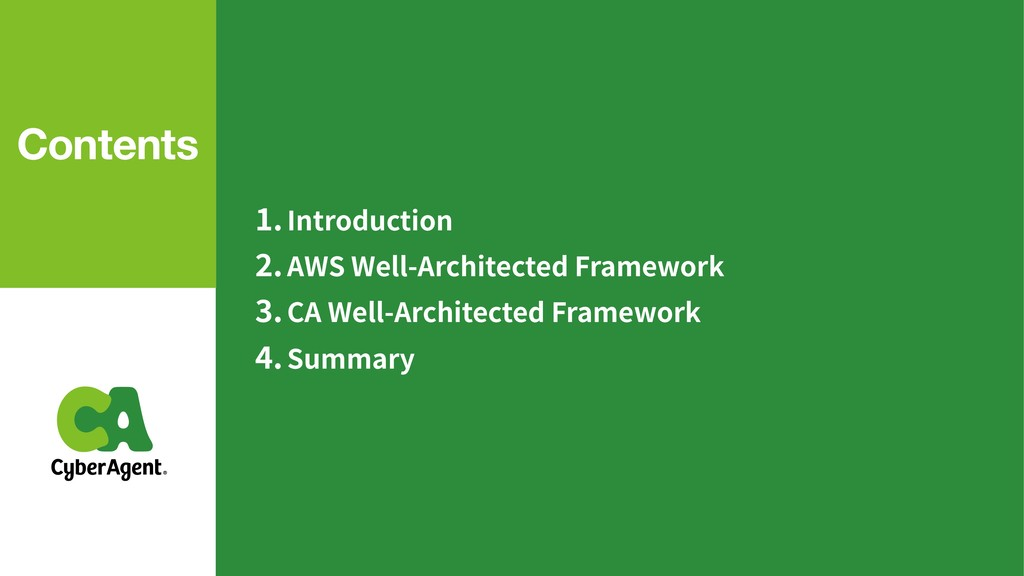 .Introduction .AWS Well-Architected Framework ....