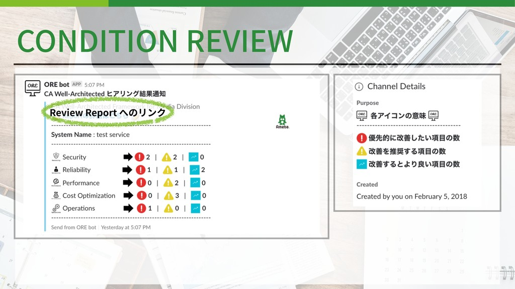 CONDITION REVIEW Review Report へのリンク