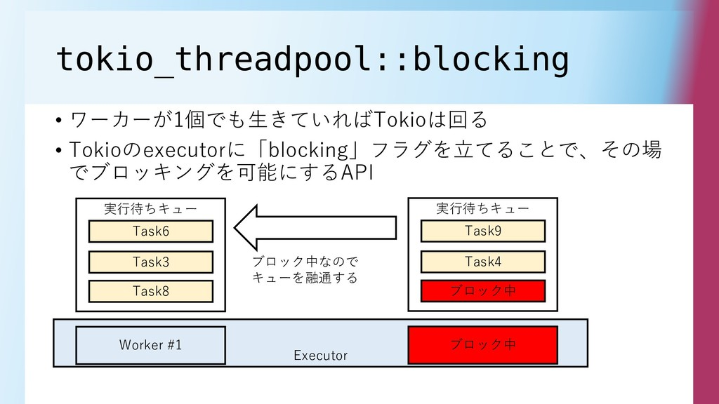 tokio_threadpool::blocking • ワーカーが1個でも生きていればTok...