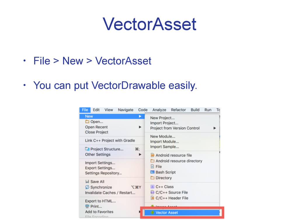 VectorAsset • File > New > VectorAsset • You ca...
