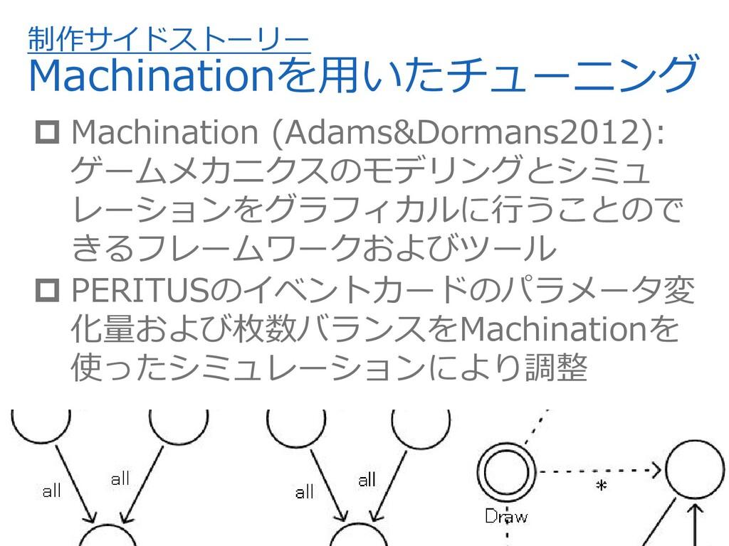 制作サイドストーリー Machinationを⽤いたチューニング  Machination ...