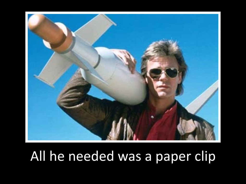 © Microsoft Corporation All he needed was a pap...