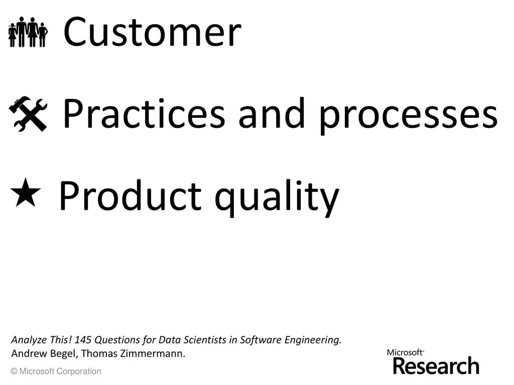© Microsoft Corporation  Customer  Practices ...