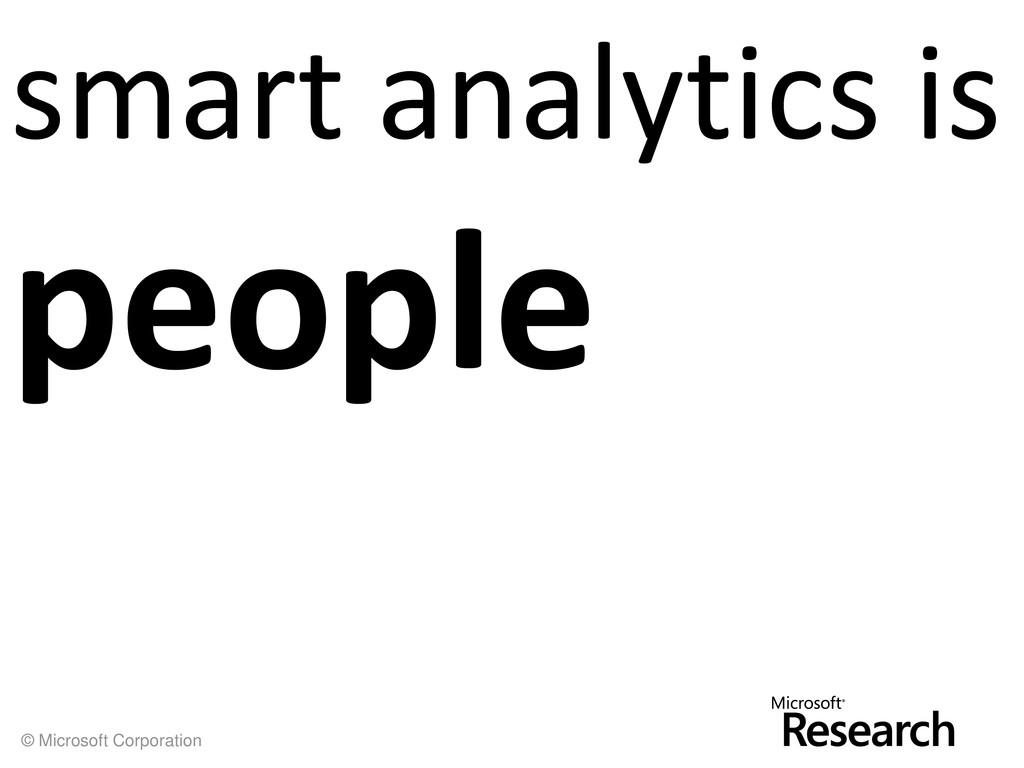© Microsoft Corporation smart analytics is peop...