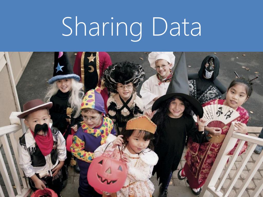 © Microsoft Corporation Sharing Data