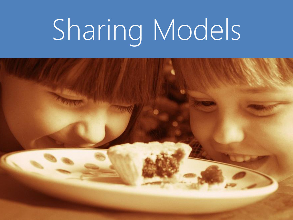 © Microsoft Corporation Sharing Models