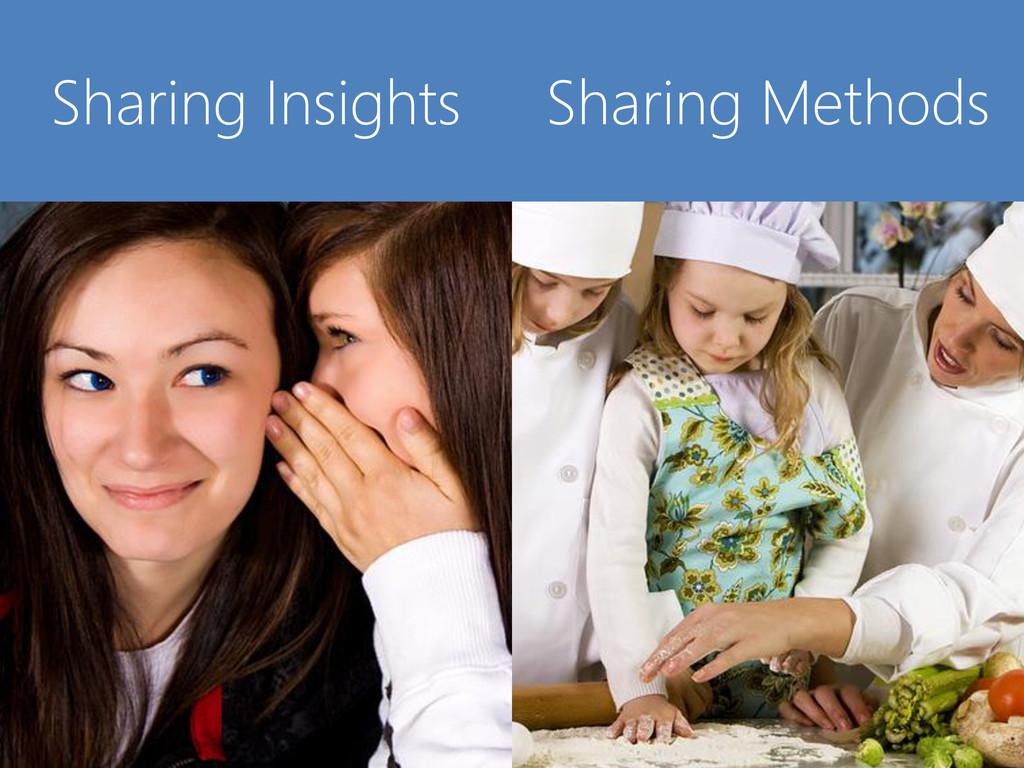 © Microsoft Corporation Sharing Insights Sharin...