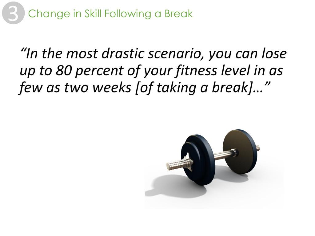 """3 Change in Skill Following a Break """"In the mos..."""