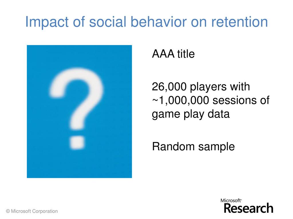 © Microsoft Corporation Impact of social behavi...