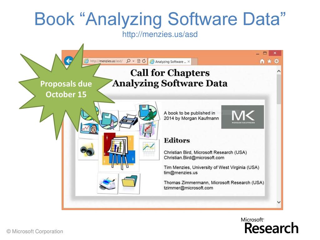 "© Microsoft Corporation Book ""Analyzing Softwar..."