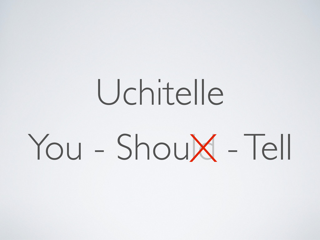 You - Should - Tell Uchitelle X