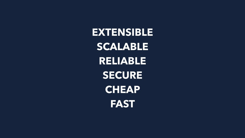 EXTENSIBLE SCALABLE RELIABLE SECURE