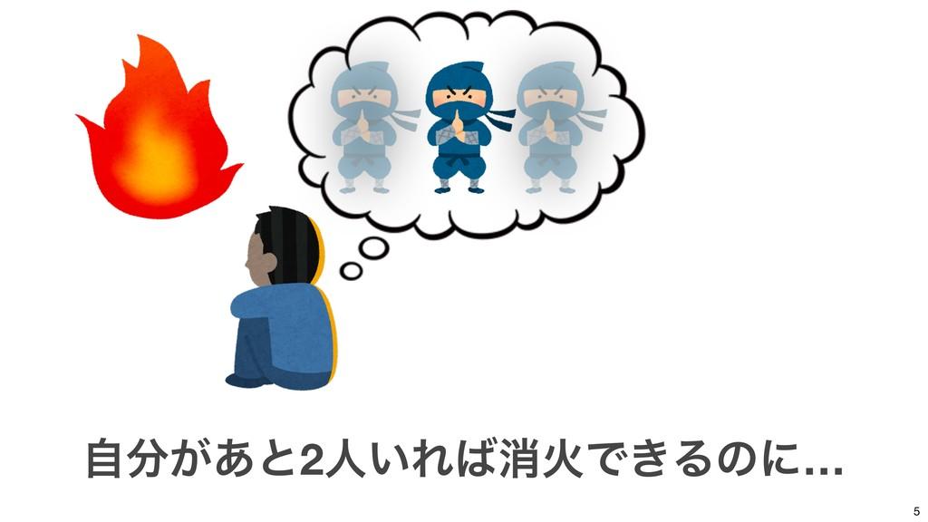 5 ͕ࣗ͋ͱ2ਓ͍ΕফՐͰ͖Δͷʹ…