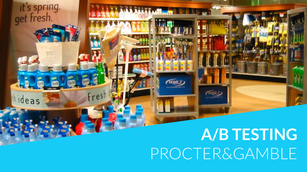 A/B TESTING PROCTER&GAMBLE