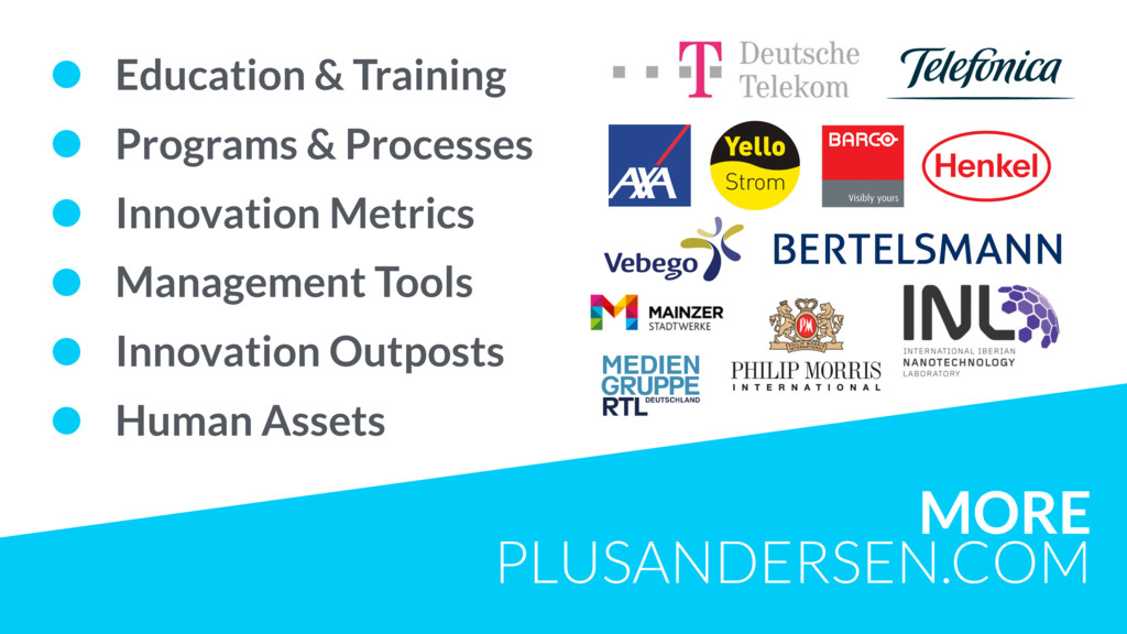 MORE PLUSANDERSEN.COM • Education & Training • ...