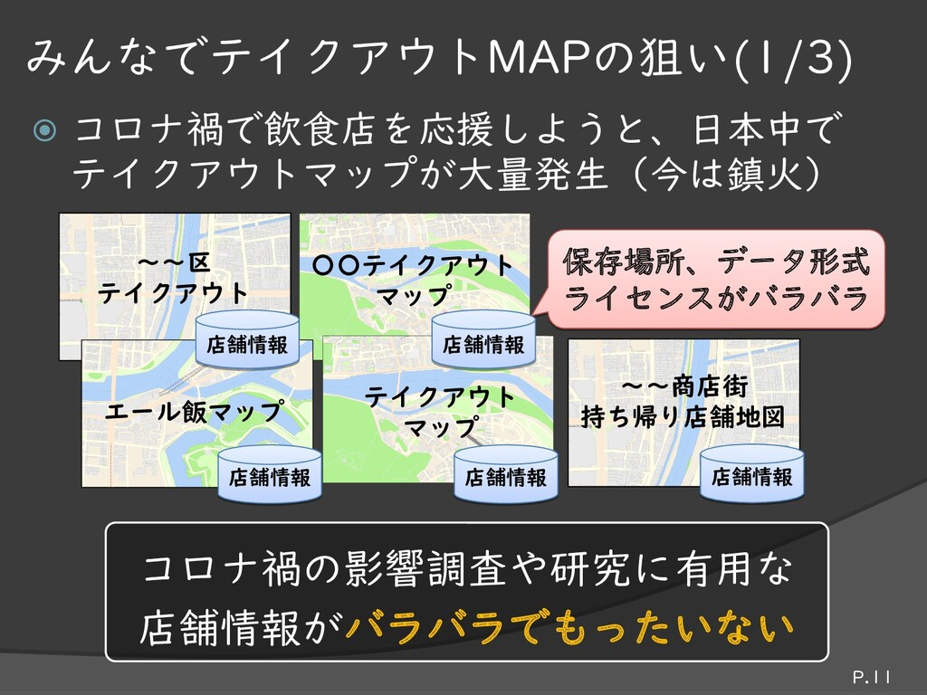  コロナ禍で飲食店を応援しようと、日本中で テイクアウトマップが大量発生(今は鎮火) P.1...
