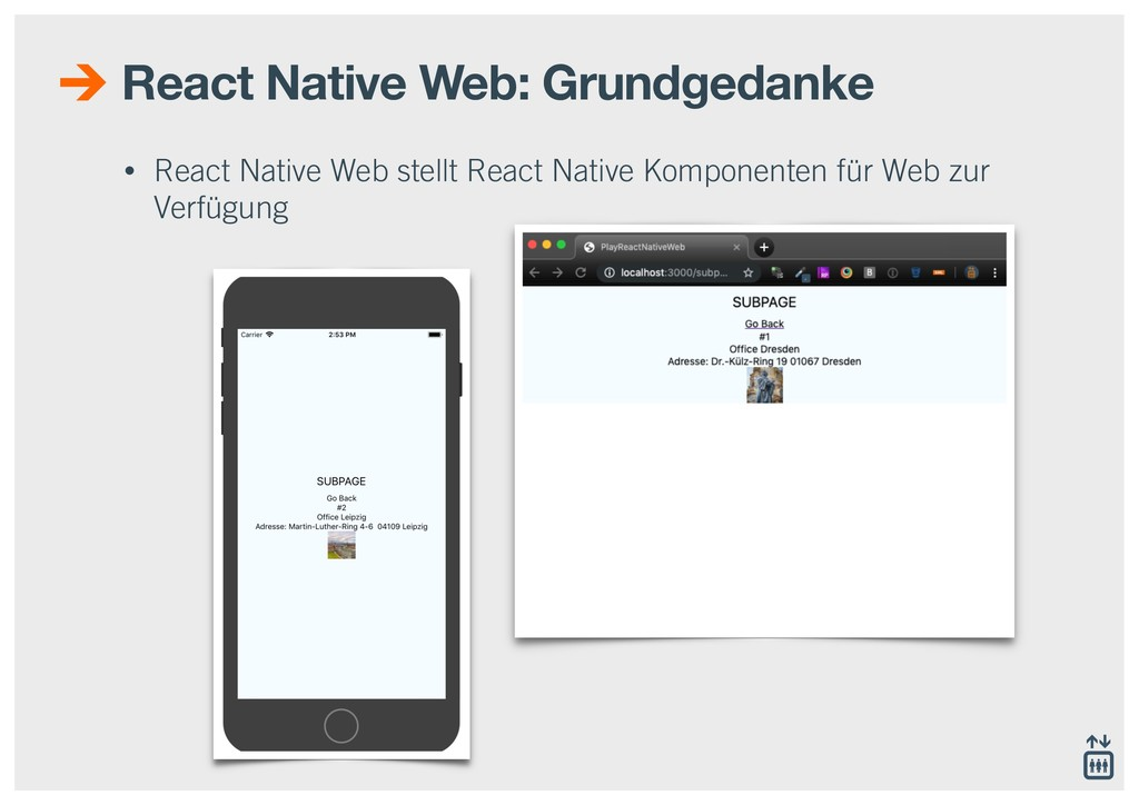 React Native Web: Grundgedanke • React Native W...