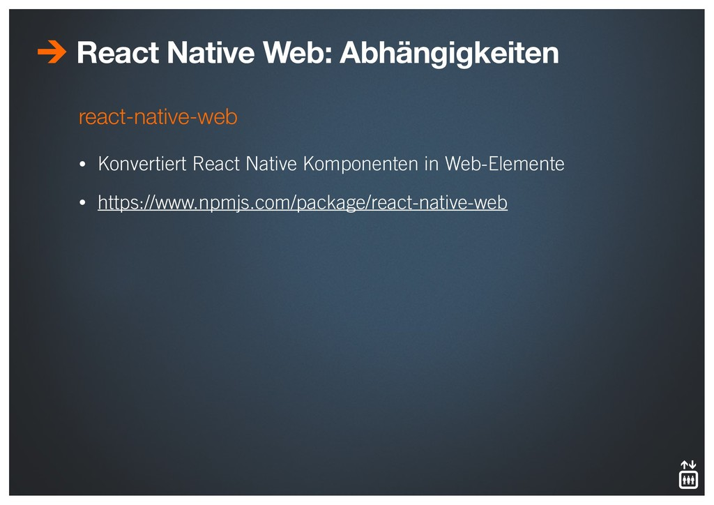 react-native-web • Konvertiert React Native Kom...
